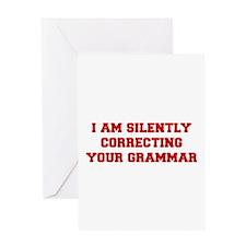 I-am-silently-grammar-fresh-brown Greeting Card