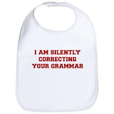 I-am-silently-grammar-fresh-brown Bib