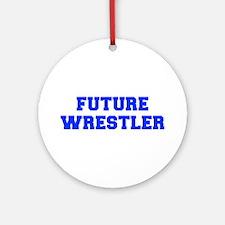 future-wrestler-fresh-blue Ornament (Round)