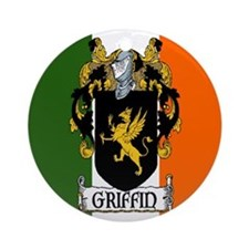 Griffin Arms Tricolour Ornament (Round)