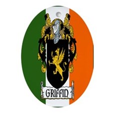 Griffin Arms Tricolour Oval Ornament