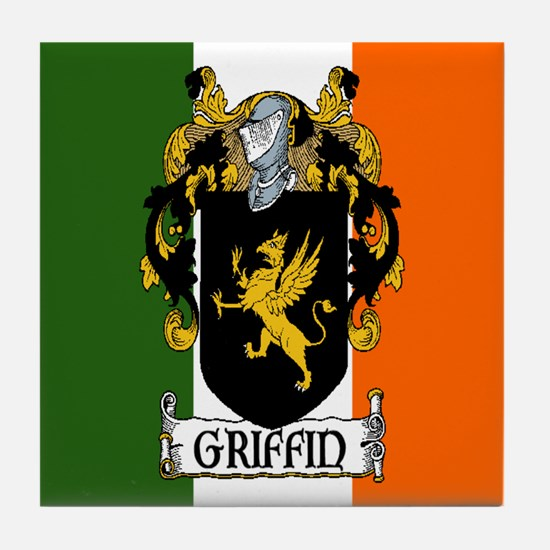 Griffin Arms Tricolour Tile Coaster
