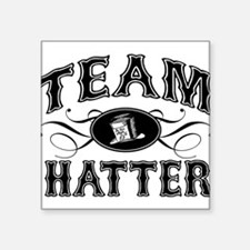 "team-hatter_bl.png Square Sticker 3"" x 3"""