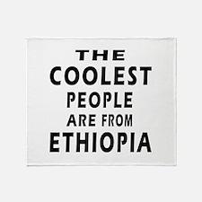 The Coolest Ethiopia Designs Throw Blanket