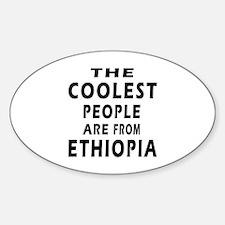 The Coolest Ethiopia Designs Sticker (Oval)