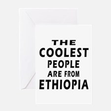 The Coolest Ethiopia Designs Greeting Card