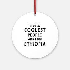 The Coolest Ethiopia Designs Ornament (Round)