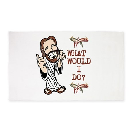 What Would Jesus Do? 3'x5' Area Rug