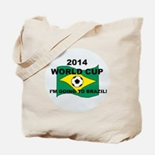 2014 World Cup Brazil Flag with a ball Tote Bag