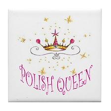 POLISH QUEEN Tile Coaster