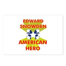 EDWARD SNOWDEN AMERICAN HERO Postcards (Package of
