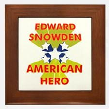 EDWARD SNOWDEN AMERICAN HERO Framed Tile