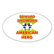 EDWARD SNOWDEN AMERICAN HERO Decal