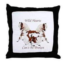 WildHearts Ponies Throw Pillow