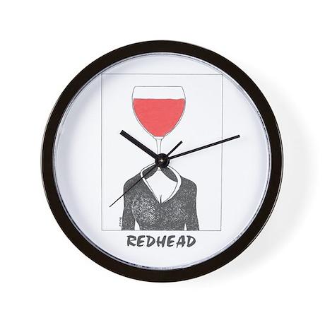 RedHeadRed Wall Clock