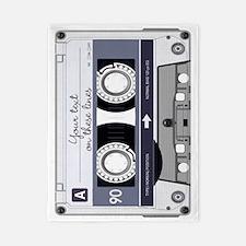 Customizable Cassette Tape - Grey Twin Duvet
