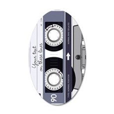 Customizable Cassette Tape - 20x12 Oval Wall Decal