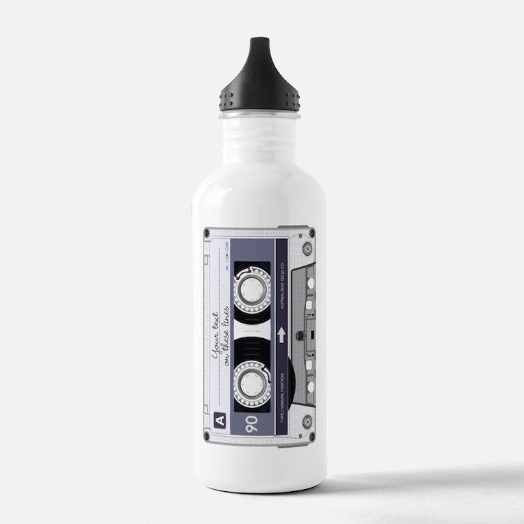 Customizable Cassette Water Bottle