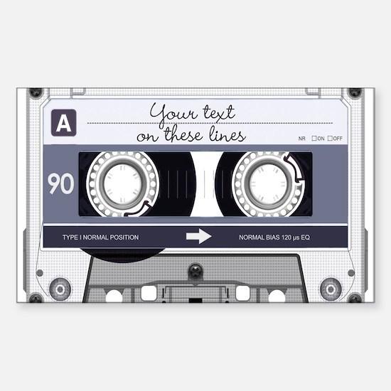 Customizable Cassette Tape - G Sticker (Rectangle)