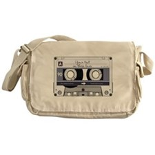 Customizable Cassette Tape - Grey Messenger Bag