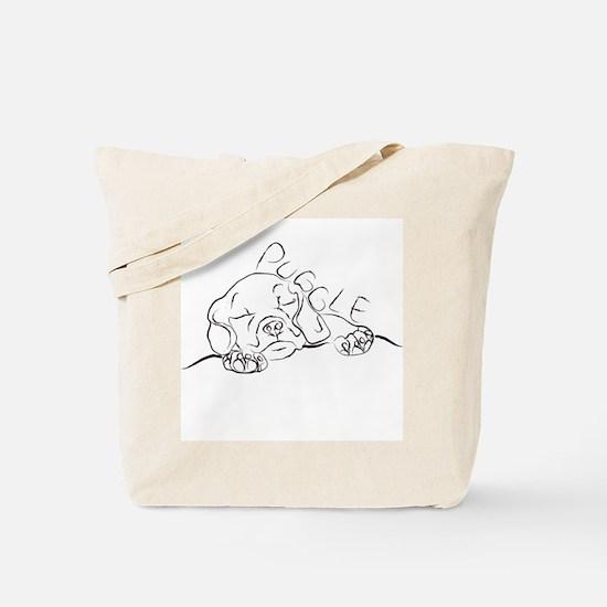 Puggle Art Tote Bag