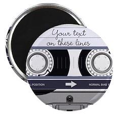 Customizable Cassette Tape - Grey Magnet