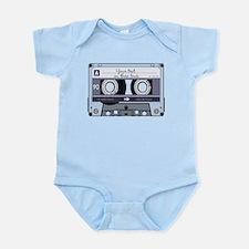Customizable Cassette Tape - Grey Infant Bodysuit