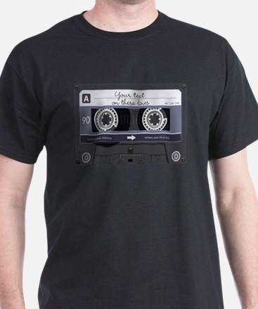 Customizable Cassette Tape - Grey T-Shirt