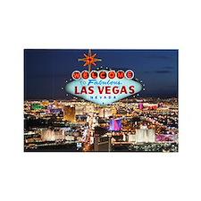 Las Vegas Rectangle Magnet