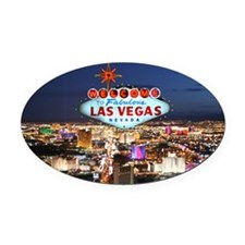 Las Vegas Oval Car Magnet
