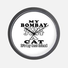 Bombay Cat Designs Wall Clock