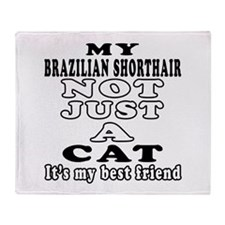 Brazilian Shorthair Cat Designs Throw Blanket