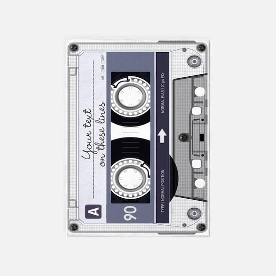 Customizable Cassette Tape - Grey 5'x7'Area Rug