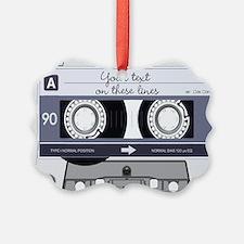 Customizable Cassette Tape - Grey Ornament