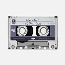 Customizable Cassette Tape - Grey Rectangle Magnet