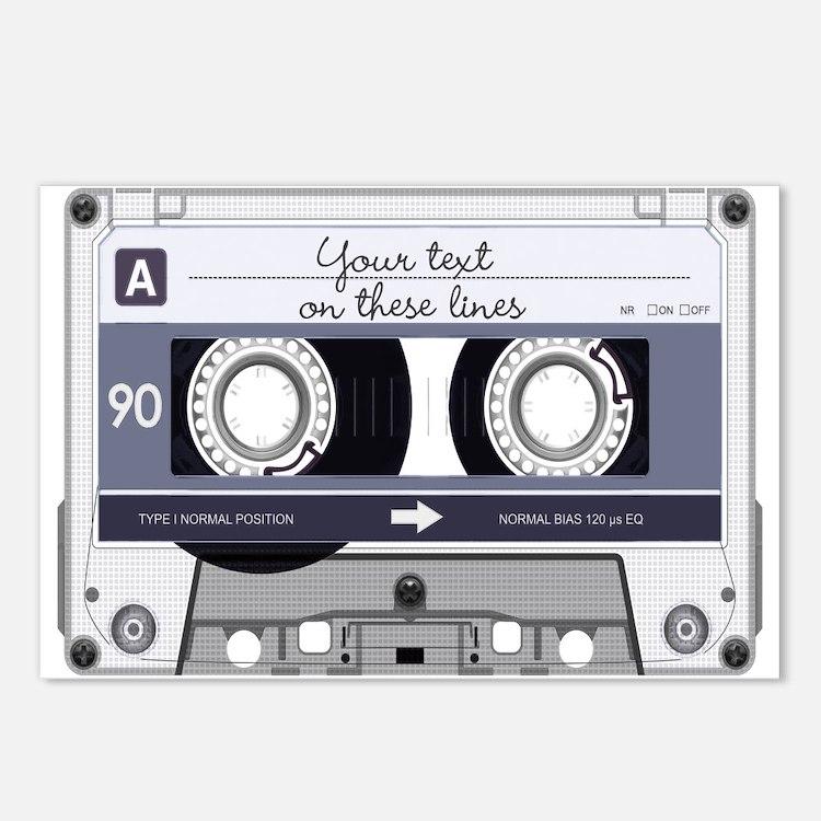 cassette tape postcards cassette tape post card design template