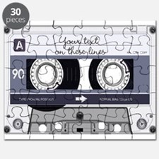Customizable Cassette Tape - Grey Puzzle