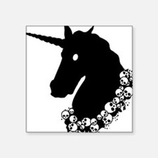 "zombie-unicorn.png Square Sticker 3"" x 3"""
