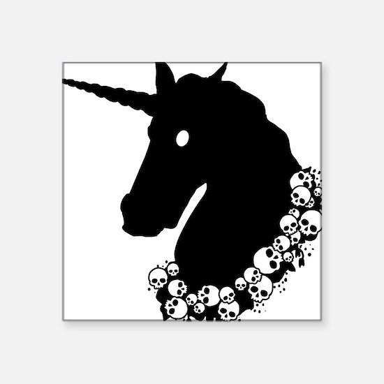 "zombie-unicorn.png Square Sticker 3"" x 3"""