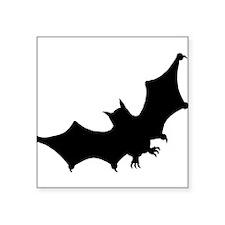 "bat-tilt_bl.png Square Sticker 3"" x 3"""