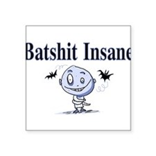 "batshit-insane_new.png Square Sticker 3"" x 3"""