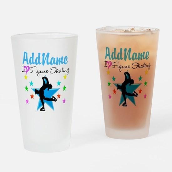 LOVE FIGURE SKATING Drinking Glass