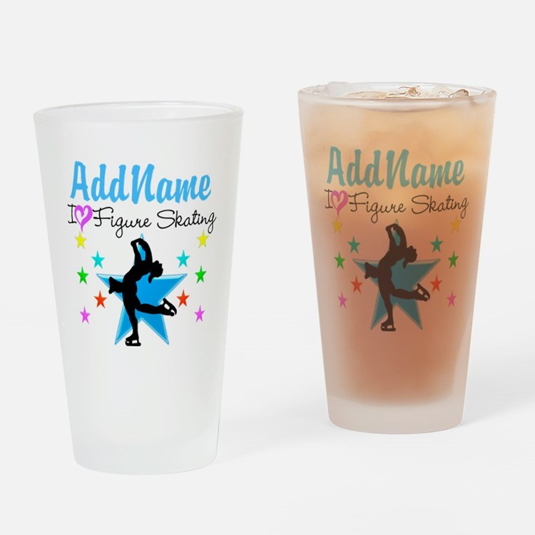 LOVE FIGURE SKATING Drinking Glass