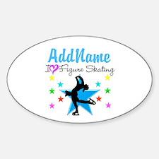LOVE FIGURE SKATING Sticker (Oval)