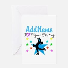 LOVE FIGURE SKATING Greeting Card