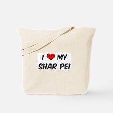 I Love: Shar Pei Tote Bag