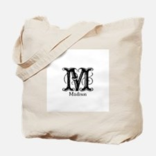 Madison: Fancy Monogram Tote Bag