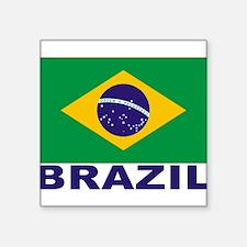 "brazil_s.gif Square Sticker 3"" x 3"""