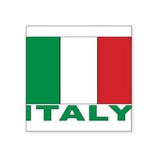 "FL-ITALY_sigg.png Square Sticker 3"" x 3"""
