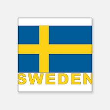 """sweden_b.gif Square Sticker 3"""" x 3"""""""